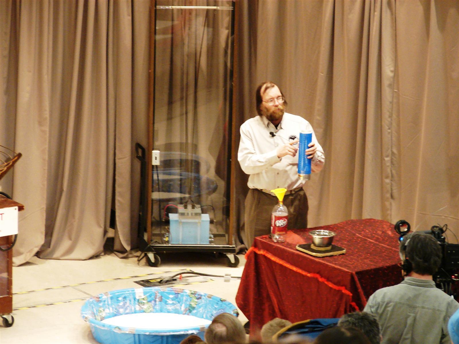 Man conducting experiment