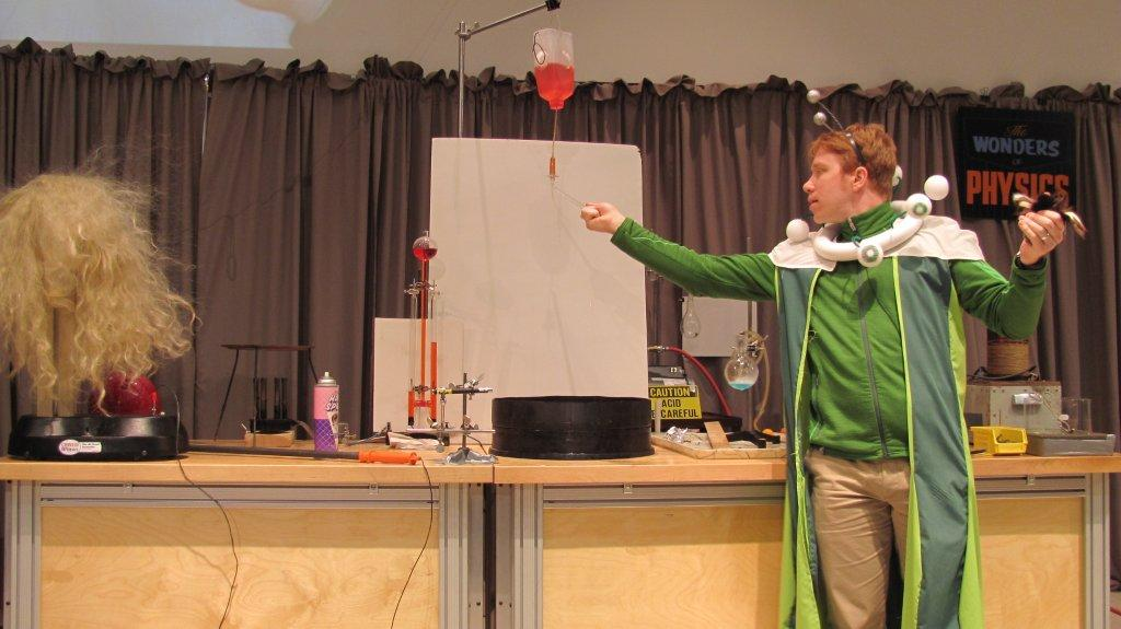 Man conducting an experiment