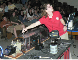Demonstrating a plasma tube