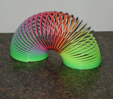 Colorful Slinky in White Light